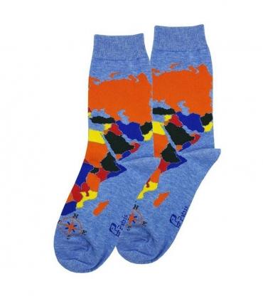 جوراب ساقدار لنگه به لنگه نانو پاتریس طرح اطلس جهان آبی