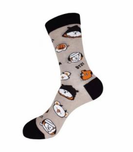 جوراب ساقدار نانو پاتریس طرح بی تی21 هالووین خاکستری