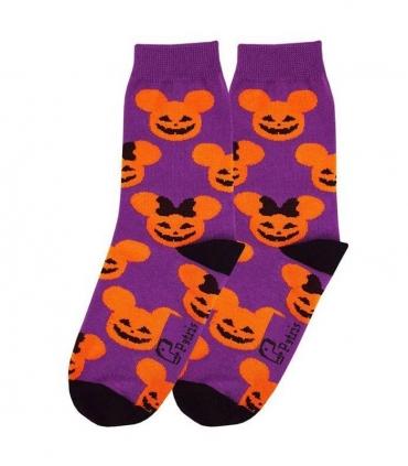 جوراب بچگانه ساقدار نانو پاتریس طرح میکی هالووین بنفش