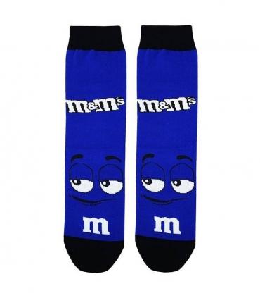 جوراب ساقدار نانو پاتریس طرح شکلات M&M آبی