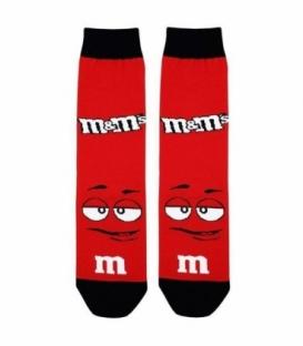 جوراب ساقدار نانو پاتریس طرح شکلات M&M قرمز