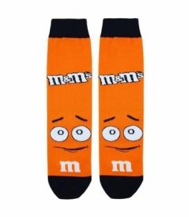 جوراب ساقدار نانو پاتریس طرح شکلات M&M نارنجی