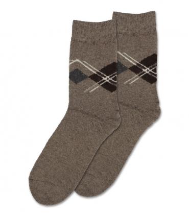 جوراب پشمی حولهای Coco & Hana ساقدار طرح لوزی کرم