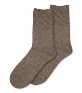 جوراب پشمی Coco & Hana ساقدار ساده قهوهای روشن