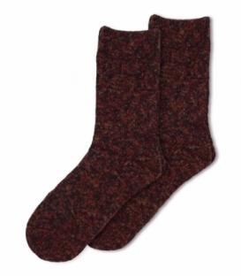 جوراب پشمی ساقدار طرح برفک زرشکی