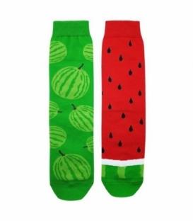جوراب لنگه به لنگه ساقدار نانو پاتریس طرح هندوانه سبز