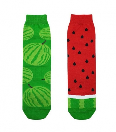 جوراب بچگانه لنگه به لنگه ساقدار نانو پاتریس طرح هندوانه سبز