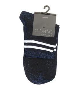 جوراب Chetic چتیک لمهای سرمهای خط دار