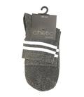 جوراب Chetic چتیک لمهای خاکستری روشن خط دار