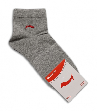 جوراب نیم ساق طرح Li-Ning خاکستری