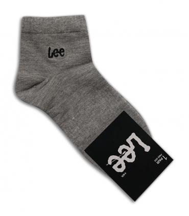 جوراب نیم ساق طرح Lee خاکستری