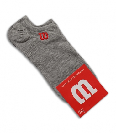 جوراب قوزکی طرح Wilson خاکستری