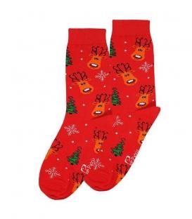 جوراب ساقدار نانو پاتریس طرح گوزن قرمز
