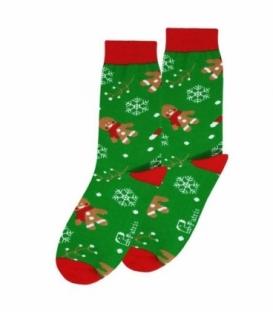 جوراب ساقدار نانو پاتریس طرح کوکی کریسمس سبز