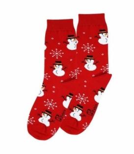 جوراب ساقدار نانو پاتریس طرح آدم برفی قرمز