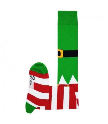 جوراب بالا زانو نانو پاتریس طرح کریسمس سبز