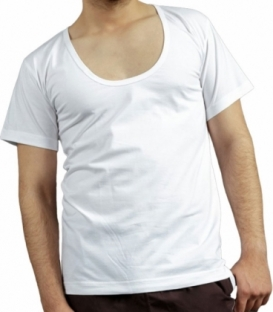 زیرپوش نخی نیم آستین یقه هلالی نیکو تن پوش کد 1037 سفید