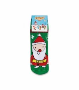 جوراب حولهای بچگانه ساقدار Ekmen طرح بابانوئل سبز