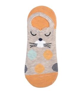 جوراب قوزکی گوشدار طرح گربه قهر