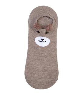 جوراب مچی گوشدار طرح خرس خندان