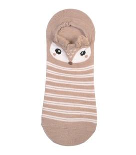 جوراب مچی گوشدار طرح روباه مرموز