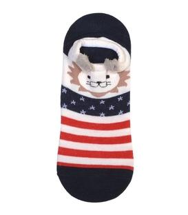 جوراب قوزکی گوشدار طرح شیر خط و ستاره