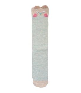 جوراب زیر زانو گوشدار طرح جغد لپ گلی