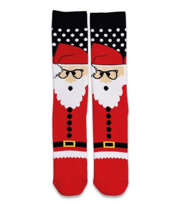 جوراب حولهای ساقدار Ekmen طرح بابانوئل قرمز