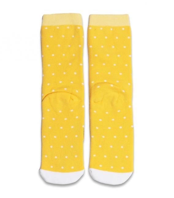 جوراب حولهای ساقدار Ekmen طرح سگ زرد