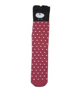 جوراب زیر زانو گوشدار طرح گربه متشخص