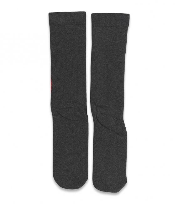 جوراب حولهای لنگه به لنگه ساقدار Ekmen طرح بابانوئل و گوزن خاکستری تیره