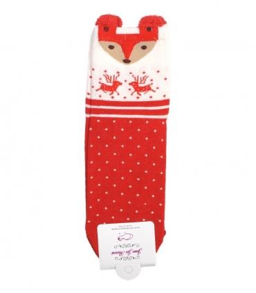 جوراب نیمساق گوشدار طرح روباه کریسمسی