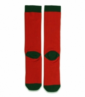 جوراب حولهای لنگه به لنگه ساقدار Ekmen طرح گوزنها قرمز
