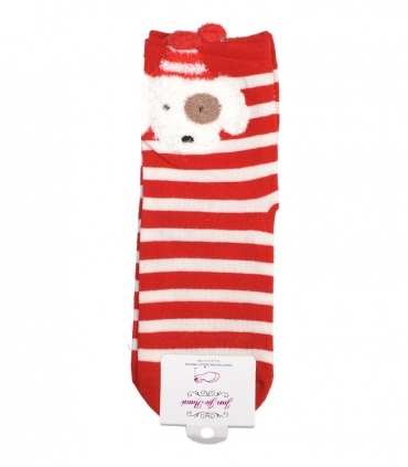 جوراب نیمساق گوشدار طرح سگ کریسمسی