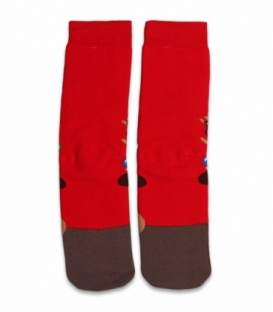 جوراب حولهای ساقدار Ekmen طرح گوزن قرمز