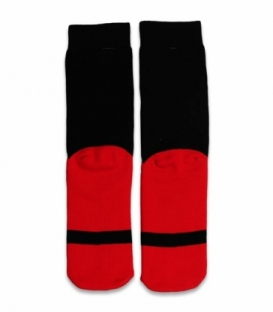 جوراب حولهای ساقدار Ekmen طرح بابانوئل قرمز و مشکی