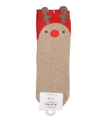 جوراب نیمساق گوشدار طرح گوزن کریسمسی
