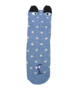 جوراب نیمساق گوشدار طرح چپول