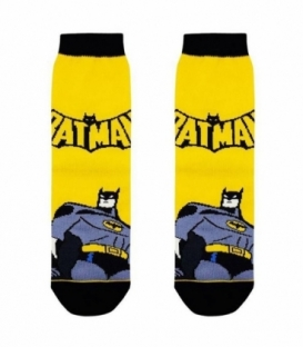 جوراب بچگانه ساقدار نانو پاتریس طرح بتمن زرد
