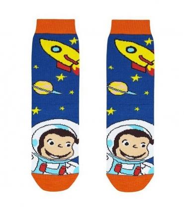 جوراب بچگانه ساقدار نانو پاتریس طرح جورج آبی