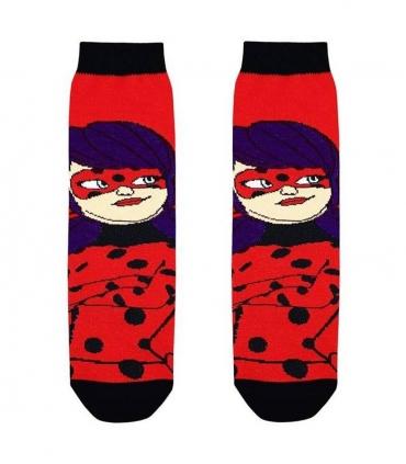 جوراب بچگانه ساقدار نانو پاتریس طرح دختر کفشدوزکی قرمز