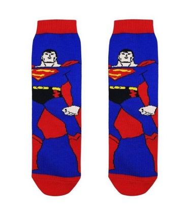 جوراب بچگانه ساقدار نانو پاتریس طرح سوپرمن آبی