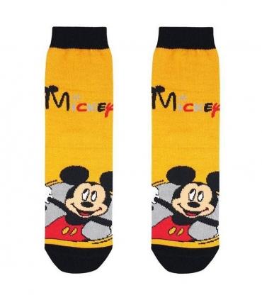 جوراب بچگانه ساقدار نانو پاتریس طرح میکی موس زرد