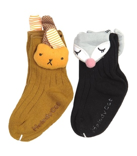 پک جوراب نوزاد خرگوش و روباه - ۲ جفت