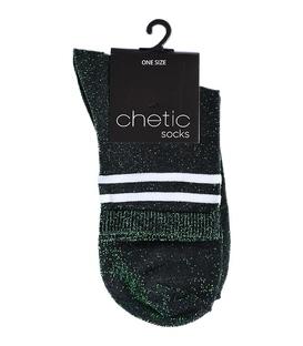 جوراب Chetic لمهای سبز تیره خط دار