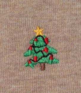 جوراب نخی گلدوزی ساقدار Ekmen اکمن طرح درخت کاج کرم