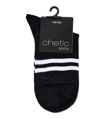 جوراب Chetic چتیک لمهای مشکی خط دار