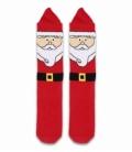 جوراب حولهای کف استپدار ساقدار Ekmen اکمن طرح بابانوئل برفی قرمز