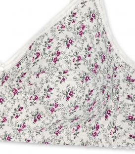 سوتین لاکرا پنبه (نخی) بدون فنر Adak آداک کد 681 گل رز سفید