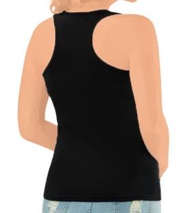 تاپ آستین حلقهای زنانه پشت قهرمانی Anit کد 2996 مشکی